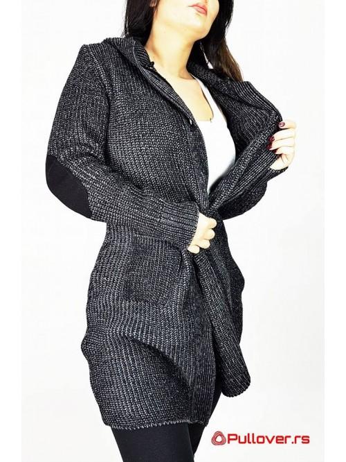 Ženski Džemper Na Kopčanje Sa Kapuljačom