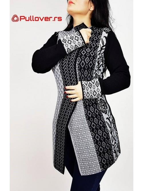 Ženski džemper sa jednom kopčom