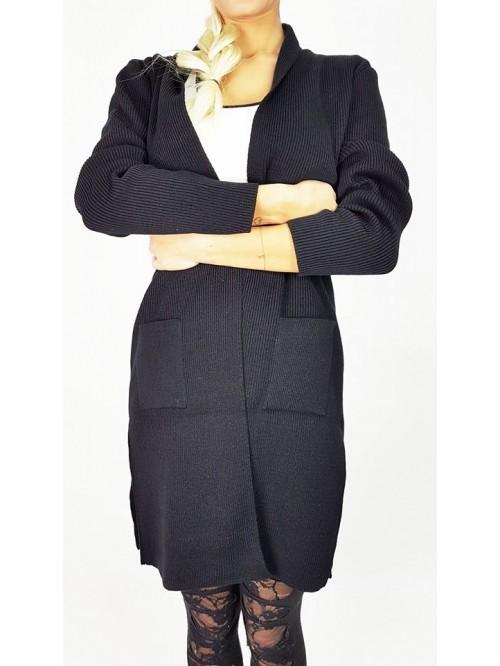 Ženski džemper sa džepovima bez pojasa