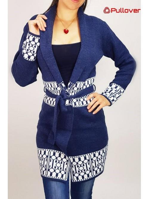 Ženski džemper - mantil na vezivanje