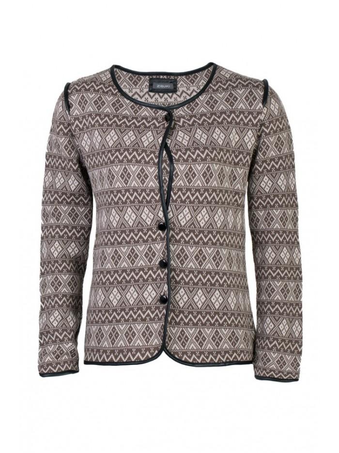 Ženski džemper na kopčanje jakna